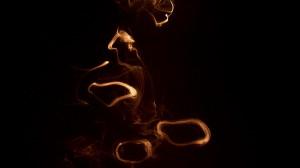 AUM (incense calligraphy) 2008_2