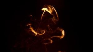 AUM (incense calligraphy) 2008_3